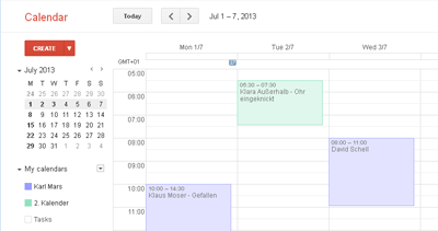 Import Icalendar file from Google Calendar